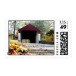 Covered Bridge Love Postage Stamp