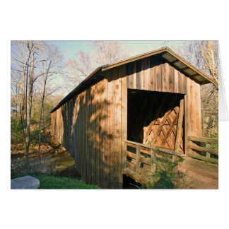 Covered Bridge Note Card Spring in the Country