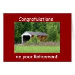 Covered Bridge Retirement Card