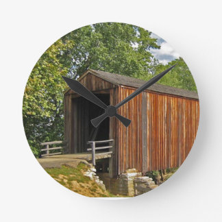 Covered Bridge Round Clock