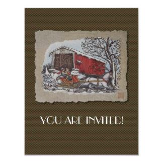 Covered Bridge & Sleigh Card