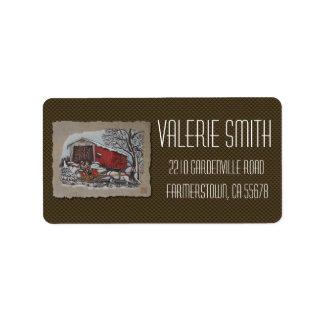 Covered Bridge & Sleigh Label