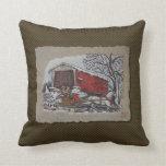 Covered Bridge & Sleigh Pillow