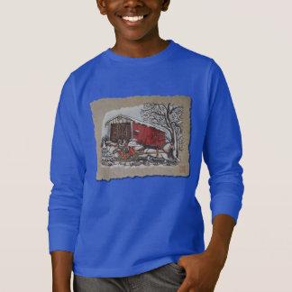 Covered Bridge Sleigh T-Shirt