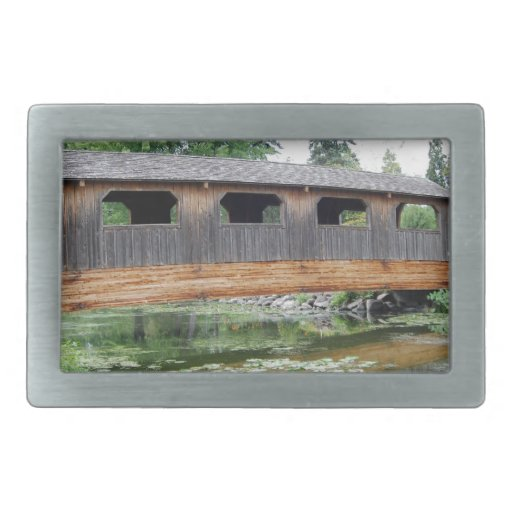 Covered Bridge Summer Belt Buckles