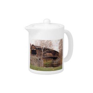 Covered Bridge Teapot