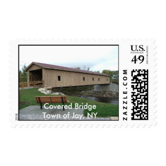 Covered Bridge-Town of Jay, NY Postage