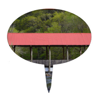 Covered Bridge Transylvania County NC Cake Topper