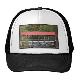 Covered Bridge Transylvania County NC Trucker Hat