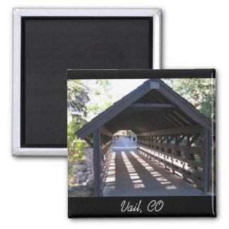 Covered Bridge Vail, CO 2 Inch Square Magnet