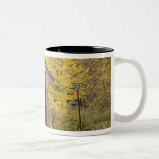 Covered bridge, Vermont, USA 2 Two-Tone Coffee Mug