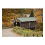 Covered bridge, Vermont, USA Print