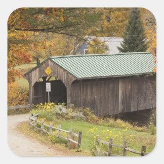 Covered bridge, Vermont, USA Square Sticker
