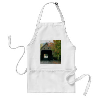 Covered bridge, with fall foliage, Woodstock, Verm Apron