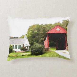 Covered Bridges Decorative Pillow