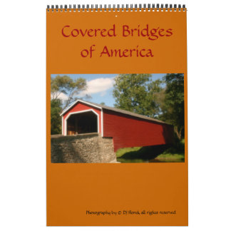 Covered Bridges of America one page Calendar
