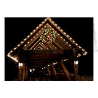 Covered Christmas Bridge Card