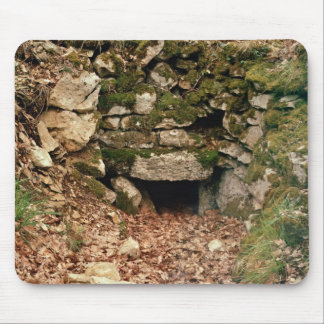 Covered entrance to a tumulus mouse pad