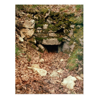 Covered entrance to a tumulus postcard