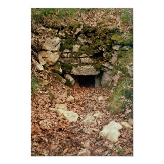 Covered entrance to a tumulus poster