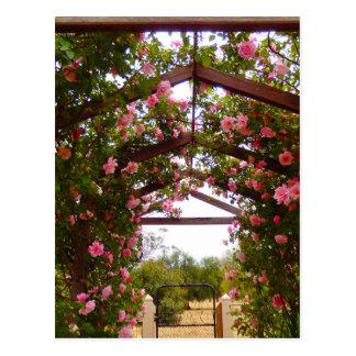 Covered Flower Walkway Postcard