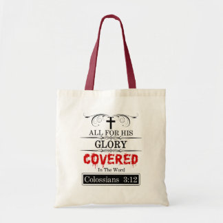 Covered In The Word Tote Bag