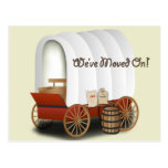 Covered Wagon Address Change Postcards