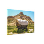 Covered Wagon at Scotts Bluff National Monument Gallery Wrapped Canvas