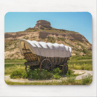 Covered Wagon at Scotts Bluff National Monument Mouse Pad