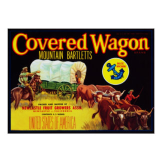 Covered Wagon Bartletts Poster
