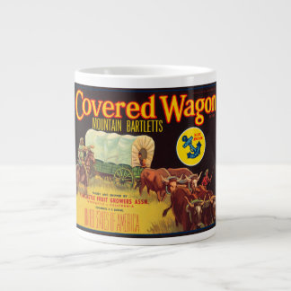 Covered Wagon Brand Mountain Bartletts Vintage Cra Giant Coffee Mug
