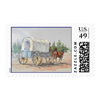 COVERED WAGON by SHARON SHARPE Stamps