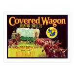 Covered Wagon Fruit Vintage Label Postcards
