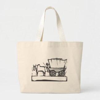 Covered Wagon Jumbo Tote Bag