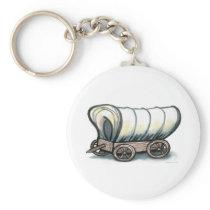 Covered Wagon Keychain