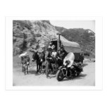 Covered Wagon, Motorcycle Cop, 1951 Vintage Postcards