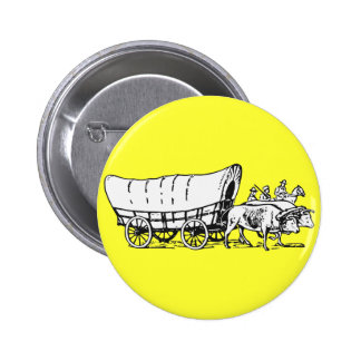 Covered Wagon Pinback Button