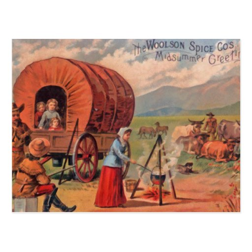 Covered Wagon Post Cards