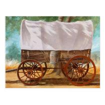 Covered Wagon Postcard