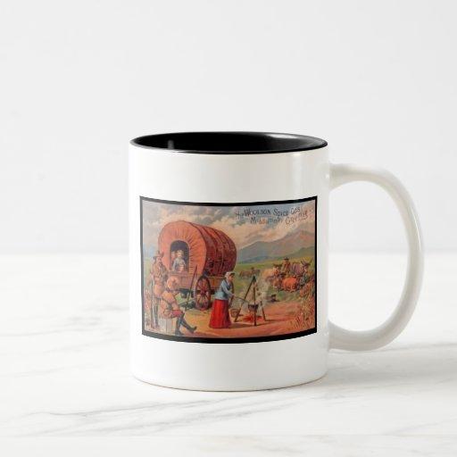 Covered Wagon Two-Tone Coffee Mug
