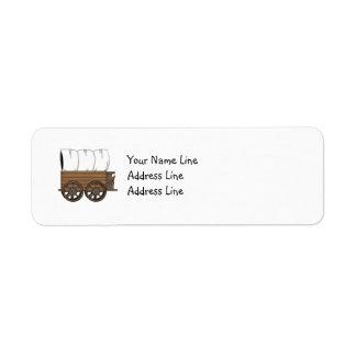 Covered Wagon - Western Return Address Label