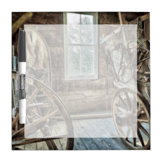Covered wagon, wooden wagon wheel Dry-Erase board