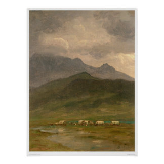 Covered Wagons by Bierstadt (0101A) Poster