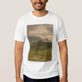 Covered Wagons by Bierstadt (0101A) T-shirts
