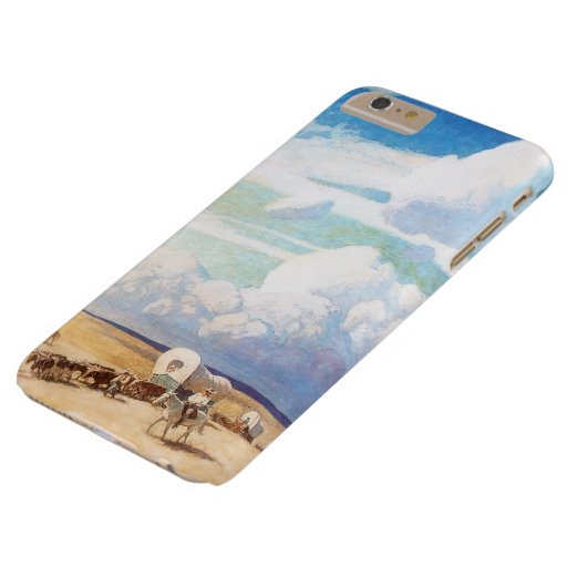 Covered Wagons by Wyeth, Vintage Western Cowboys Barely There iPhone 6 Plus Case