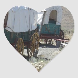 Covered Wagons Heart Sticker