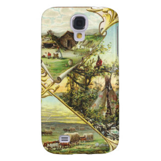 Covered Wagons & Indian Teepee iPhone 3G/3GS Case Samsung Galaxy S4 Cases