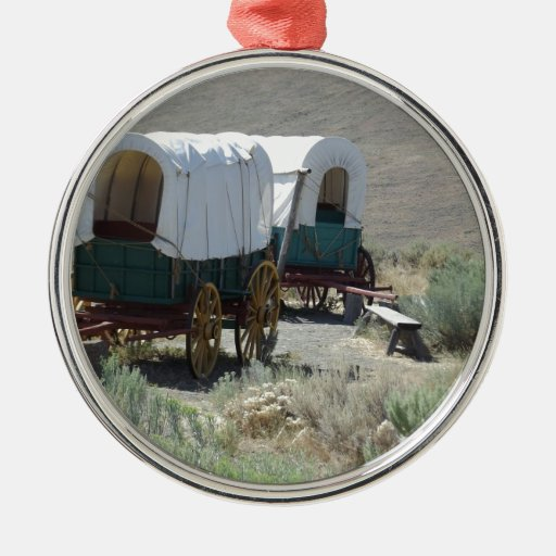 Covered Wagons Christmas Ornament