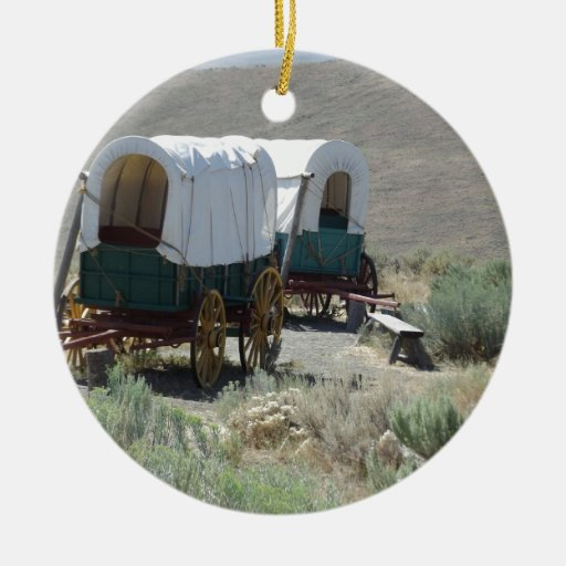 Covered Wagons Christmas Tree Ornaments