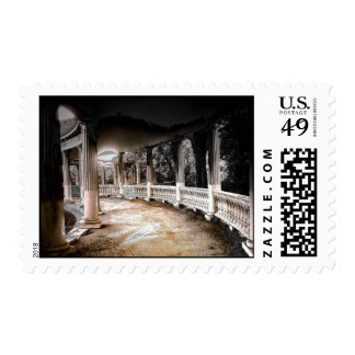Covered Walkway with Columns Stamp